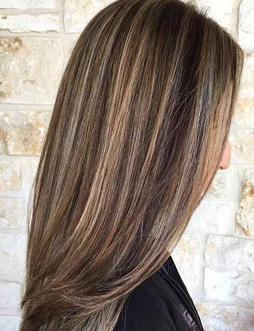 Medium Brown Hair With Lowlights Brown Hairs