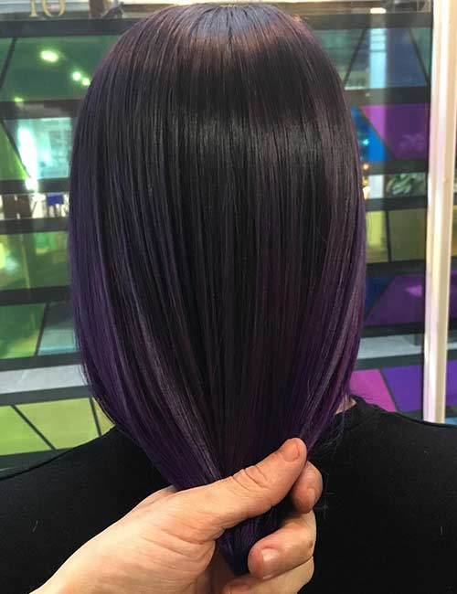 20 Breathtaking Purple Ombre Hair Color Ideas – Blushery