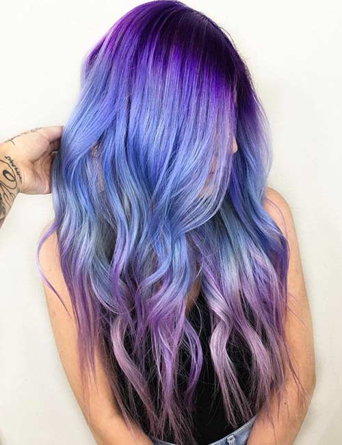 20 Breathtaking Purple Ombre Hair Color Ideas Blushery