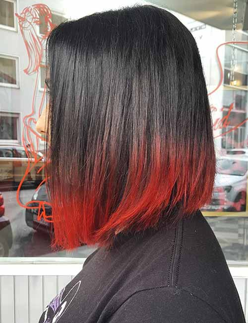 20 Radical Styling Ideas For Your Red Ombre Hair Blushery