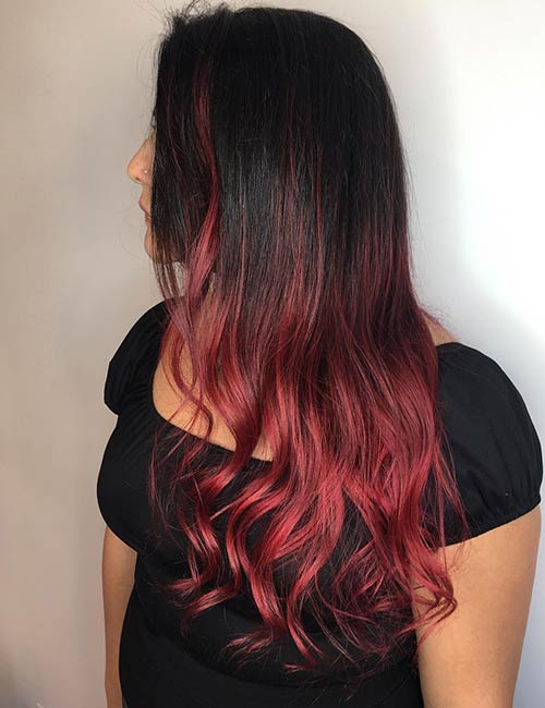 20 Radical Styling Ideas For Your Red Ombre Hair – Blushery