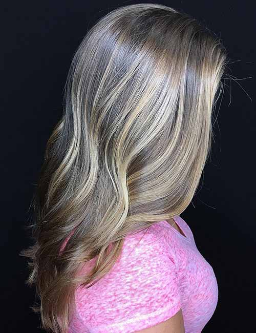 highlights pink dirty hair blonde