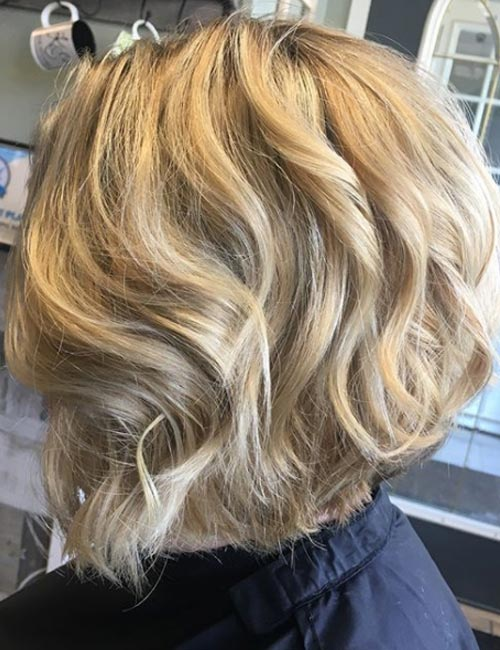 18. Stacked Blonde Hair With Texture