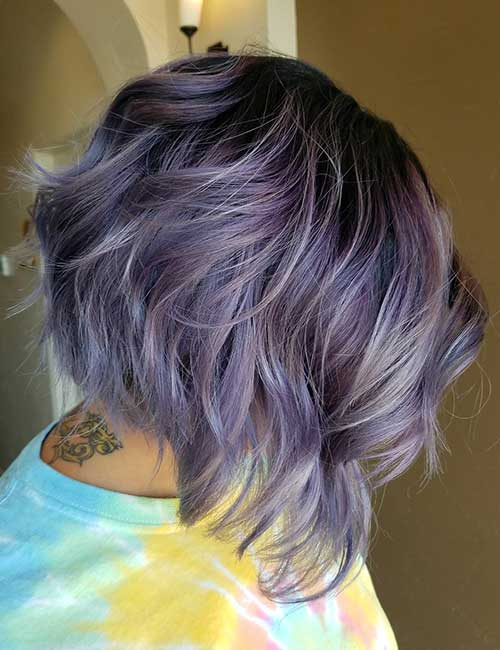 30. Wavy Lilac Stacked Lob