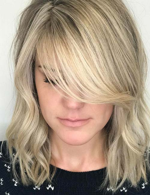 20 Hairstyles With Side Swept Bangs That Will Sweep You Off Your