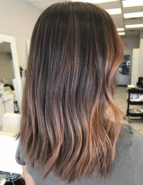 Color hair Dark ombre