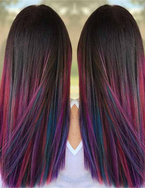 20 Amazing Dark Ombre Hair Color Ideas - Blushery