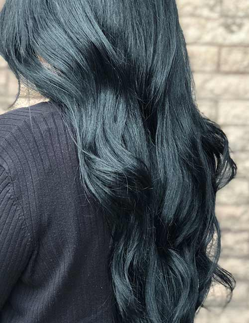 20 Amazing Blue Black Hair Color Looks Blushery