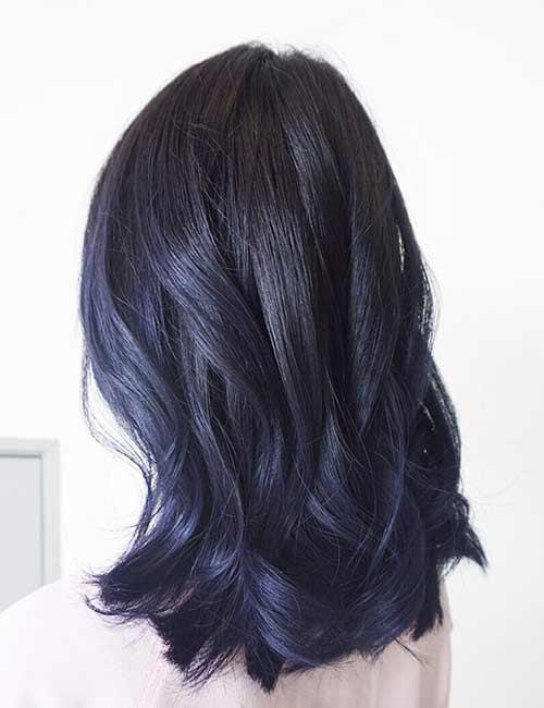 20 Amazing Blue Black Hair Color Looks Blushery