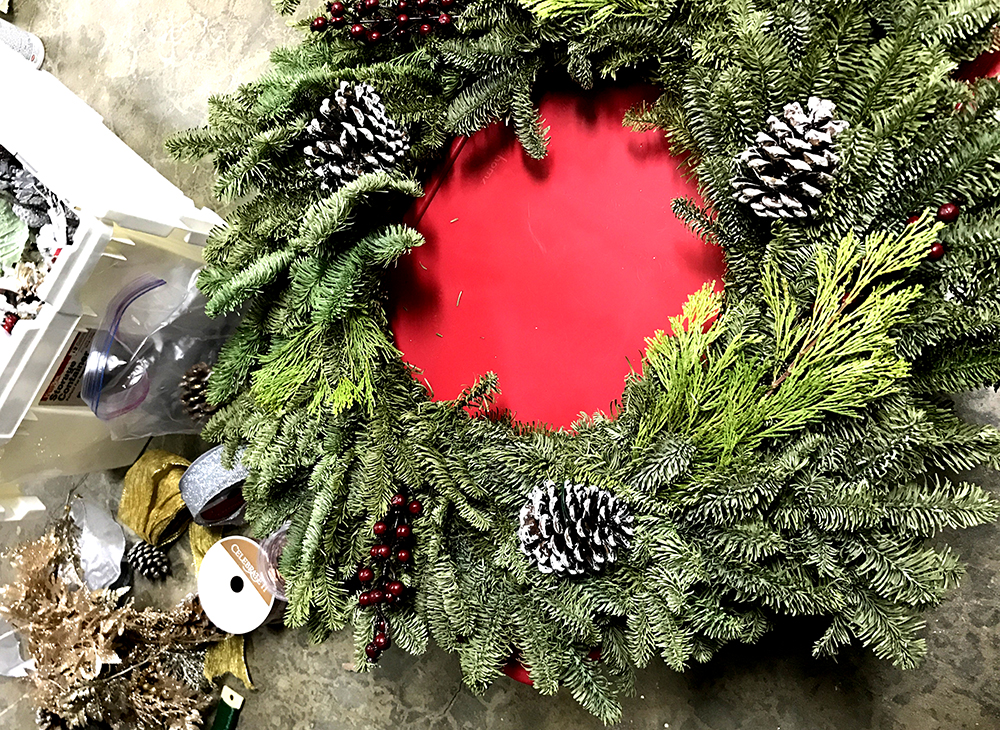 how to upgrade your store bought wreath
