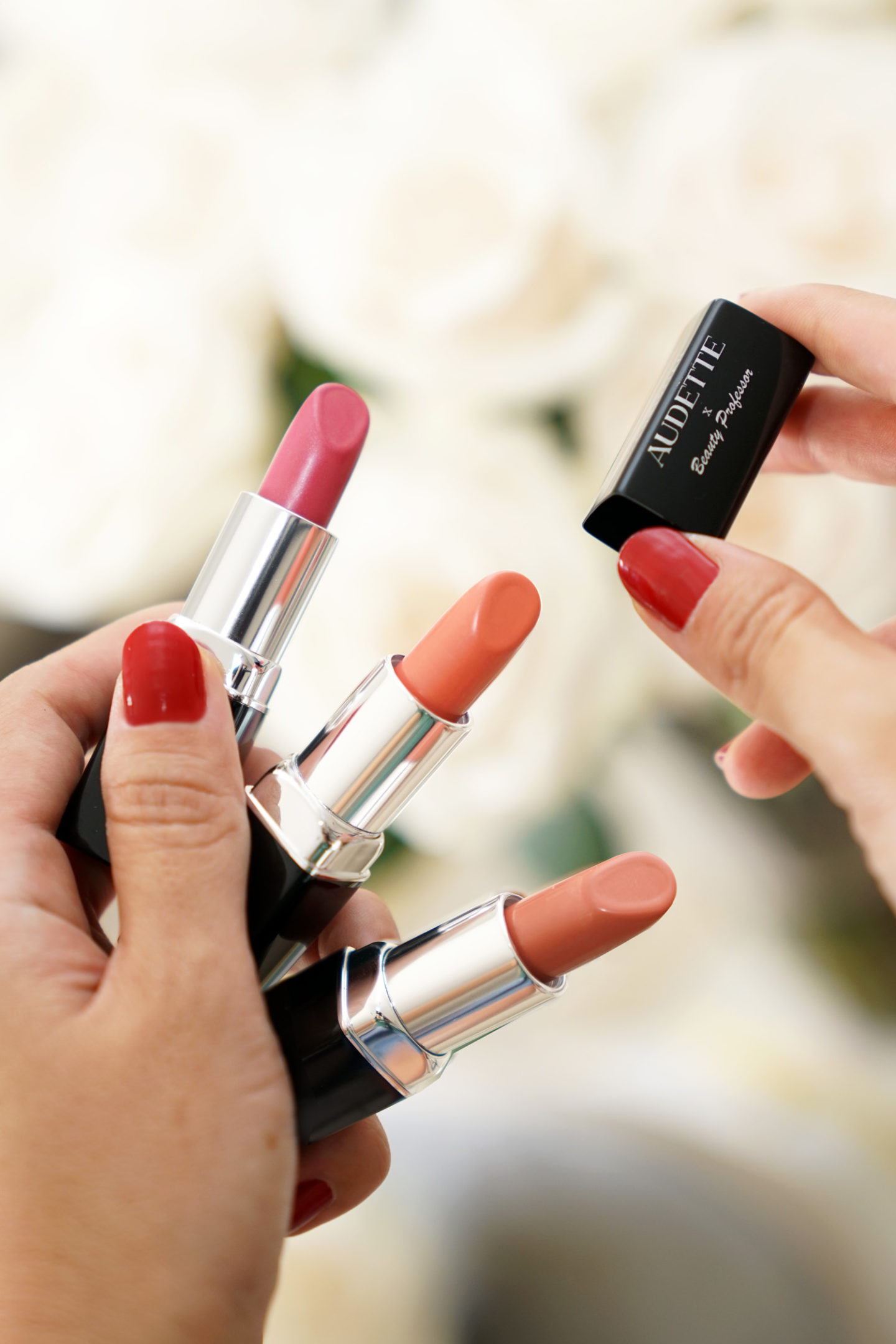 Christian Audette Beauty Professor Lipstick Collection Elle, Golightly and Johanna