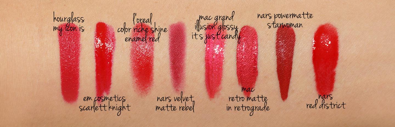 Best Red Lipsticks: Hourglass, L'Oreal, Pat McGrath, NARS