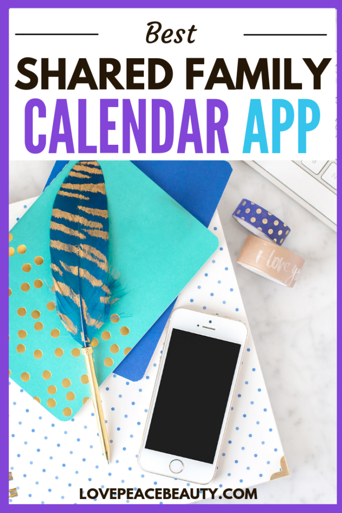 image optimized for Pinterest with the title Best Family Calendar App
