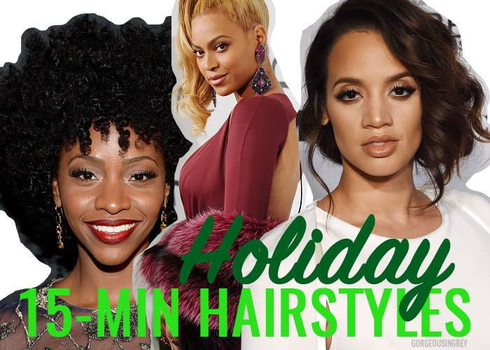 holiday hairstyles in 15 minutes