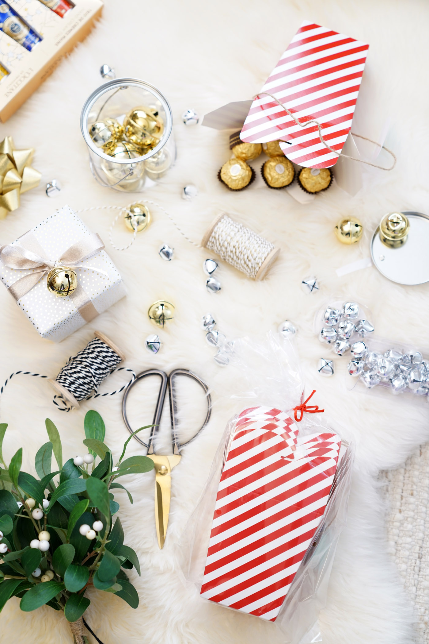 Christmas Wrapping Accessories, Bells, Take Out Boxes