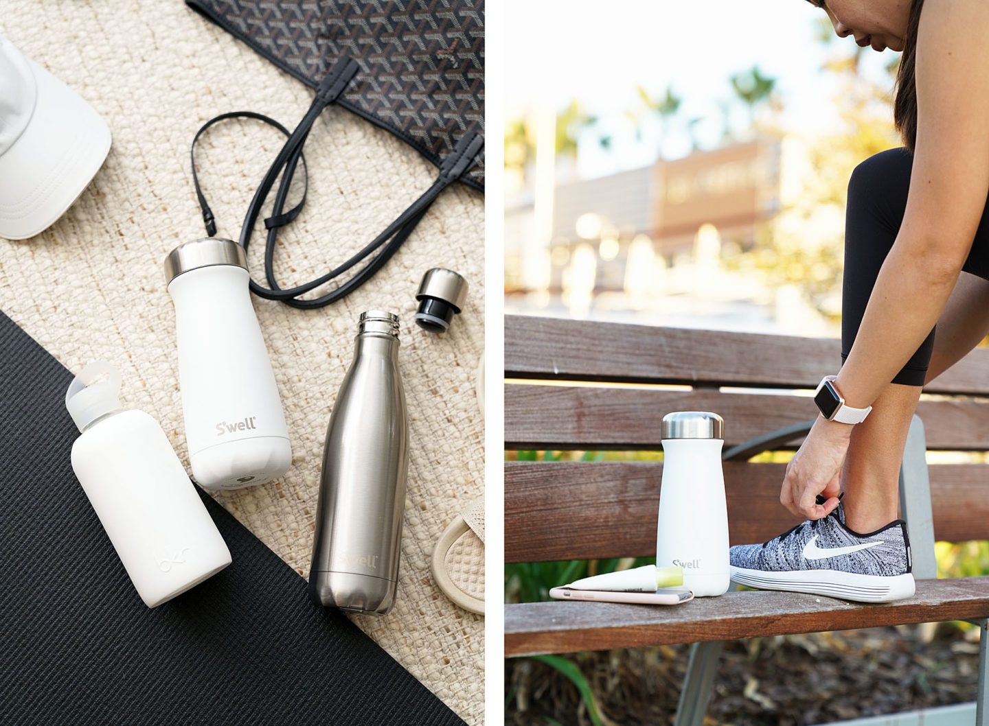 BKR Bottle, S'well Traveler Moonstone and S'well Stainless Steel Water Bottle | The Beauty Look Book