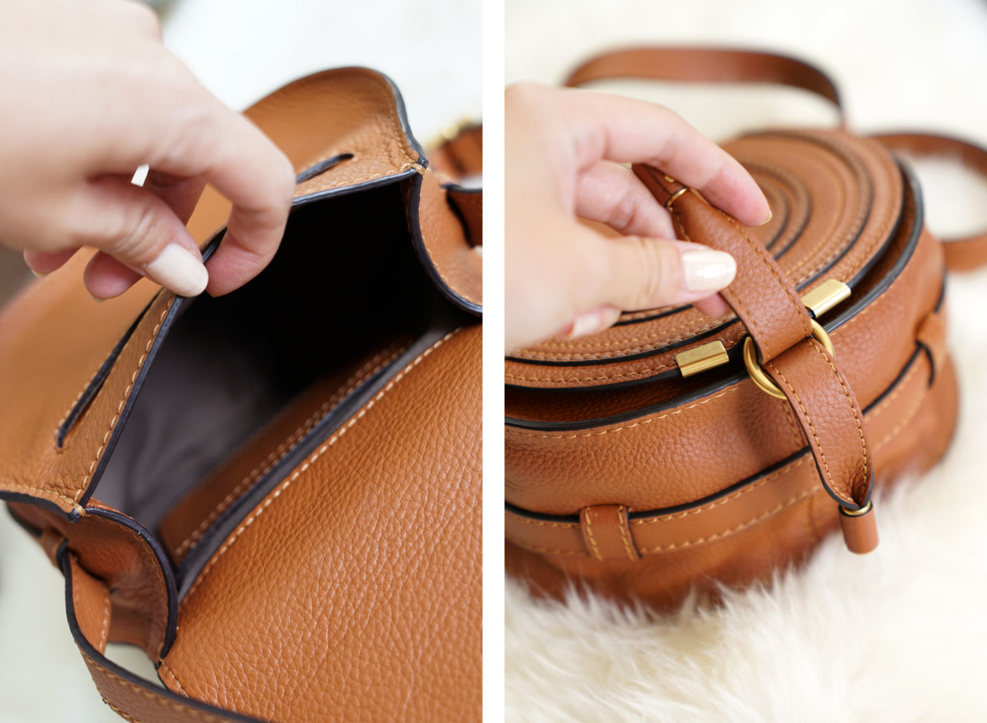 Chloe Mini Marcie Bag Interior Poclet and Clasp | The Beauty Look Book