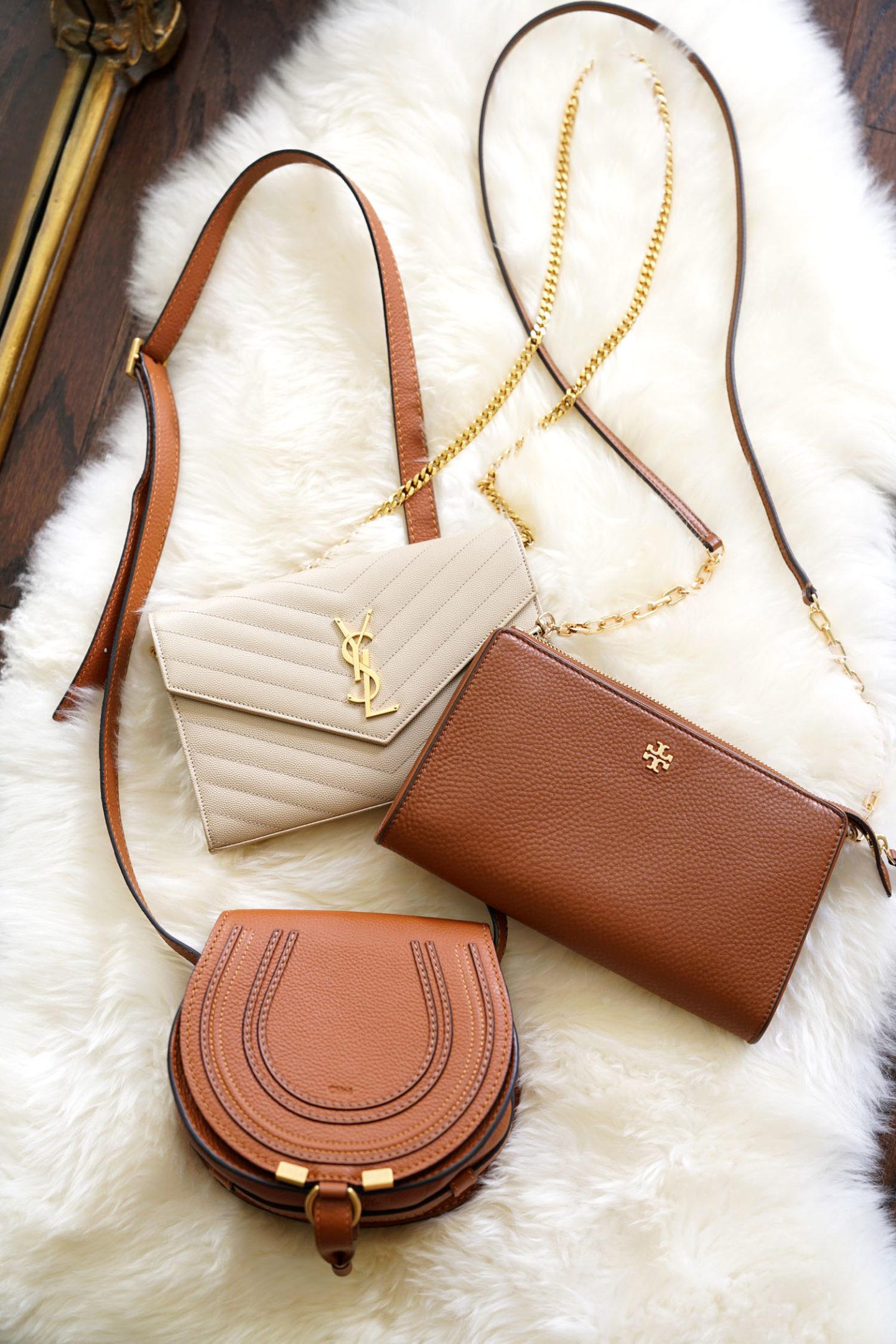 Small Crossbody Bags: Chloe Mini Marcie, YSL Wallet on Chain, Tory Burch Marsden