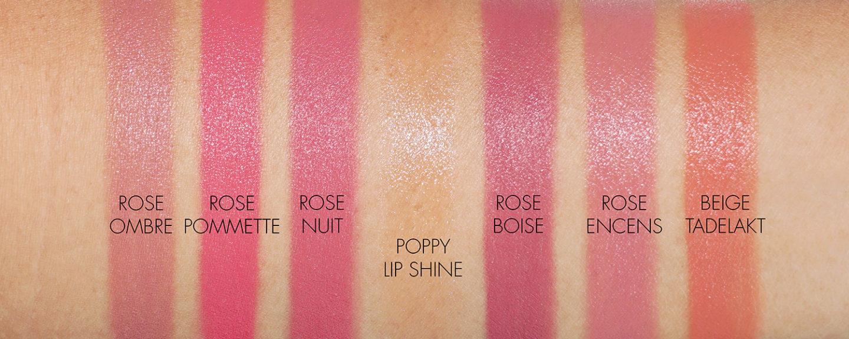 Hermes Lipstick swatches neutrals